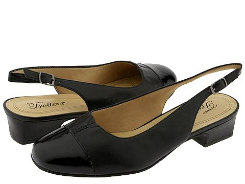 Trotters - Dea (Black Patent/Black Leather) Women's 1-2 inch heel Shoes