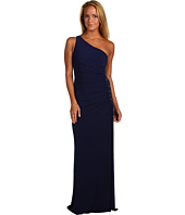 Laundry by Shelli Segal - One Shoulder Sleeveless Gown w/ Side Sequins