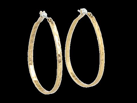 Lucky Brand - Textured Medium Oblong Hoops