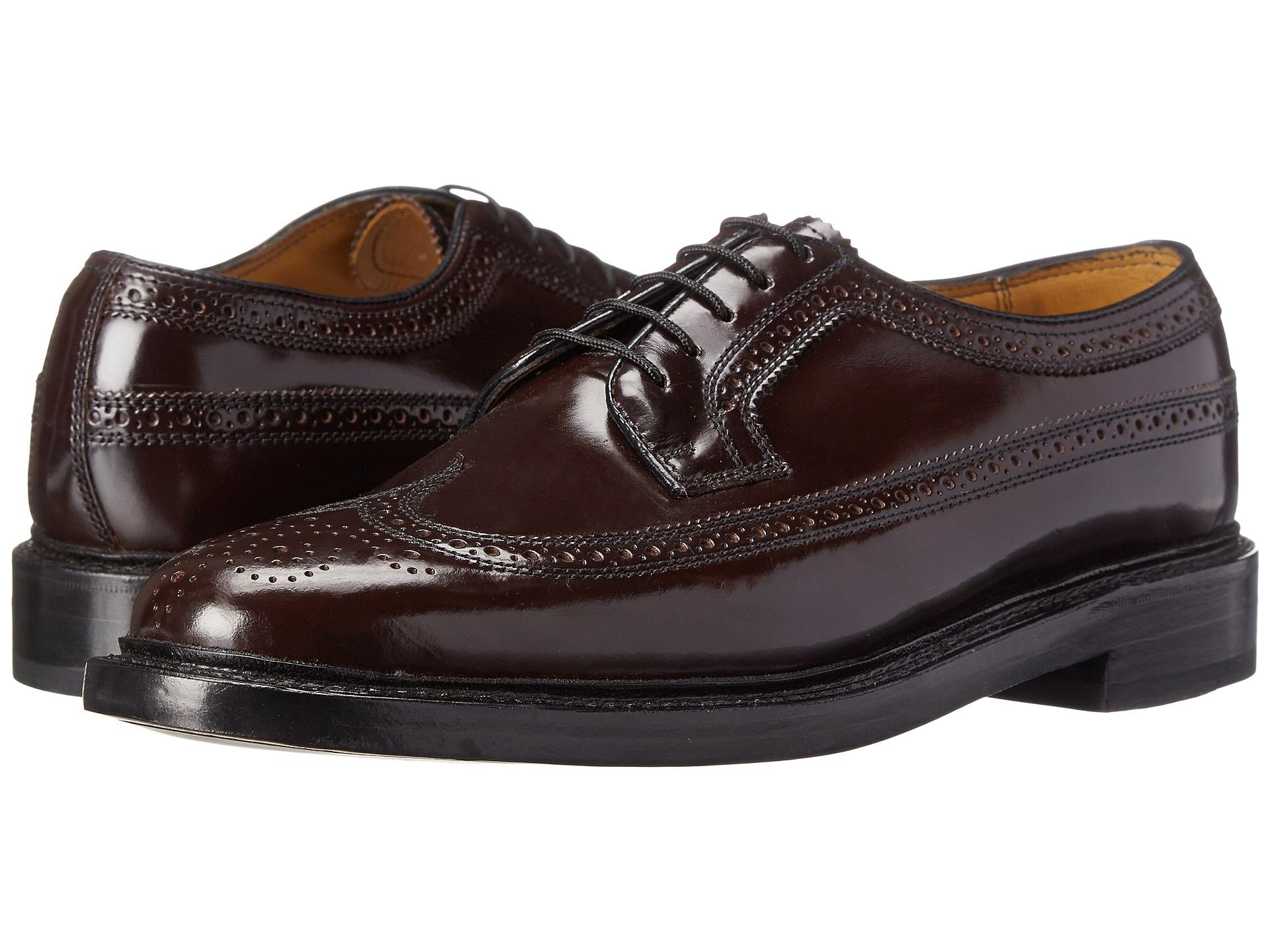 Kenmoor wing tip leather Burgundy Shoes