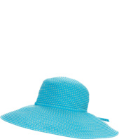 San Diego Hat Company - RBL205 Ribbon Crusher Hat with Ticking Sun Hat