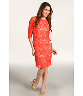 Eliza J - Three Quarter Sleeve Lace Sheath Dress