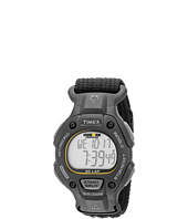 Timex - IRONMAN® Traditional 30-Lap Full-Size Black/Yellow Fast Wrap Velcro Strap Watch