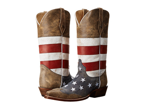 Men's Roper American Flag Snip Toe Western Boot