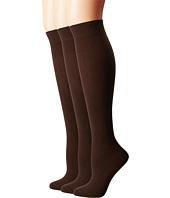 HUE - Flat Knit Knee Socks 3-Pack