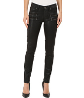 Paige - Edgemont Ultra Skinny in Black Silk Coating