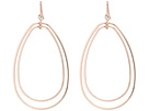 Double Teardrop Wire Hoop Earring