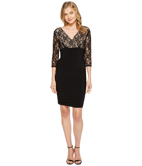 Adrianna Papell Ls Lace Band Dress At Zapposcom-8112