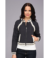 Free People - Crochet Inset Baseball Jacket