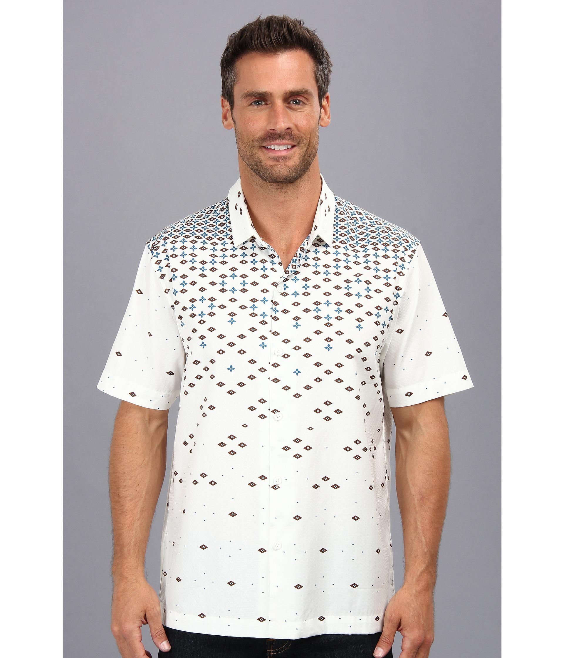 Ryan Michael Mens Silk Cotton Shirt Ink