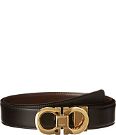 Salvatore Ferragamo - Double Gancini Adjustable/Reversible Belt 671041