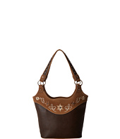 M&F Western - Embroidered Flower Bucket Tote