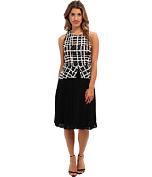 Badgley Mischka - Pleated Peplum Print Combo