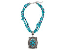 Turquoise Bead Oval Concho Necklace/Earring Set