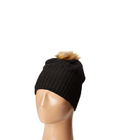 Plush - Fleece-Lined Faux Fur Pom Pom Hat