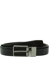 Lacoste - Premium Reversible Leather Nickel Embossed Croc Belt