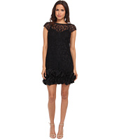 Jessica Simpson - Short Tiered Sleeve Dress with Ruffle at Hem