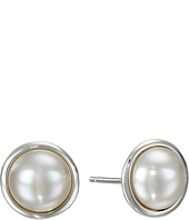 Majorica - 8mm Round Mabe On SS Earrings
