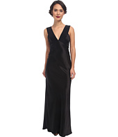 ABS Allen Schwartz - Deep V Bias Cut Gown with Back Cut Out