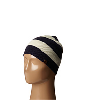 Sperry - Marled Stripe Beanie w/ Leather Tab