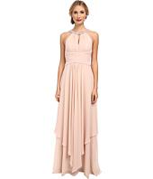 Donna Morgan - Siena Beaded Halter Long Gown
