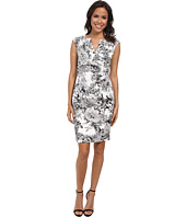 Adrianna Papell - Side Wrap Pleated Floral