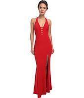 Faviana - V-Neck Chiffon Dress 7540