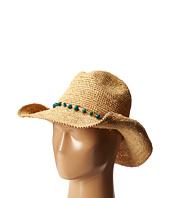 San Diego Hat Company - RHC1074 Crochet Raffia Cowboy w/ Turqoise Bead Trim