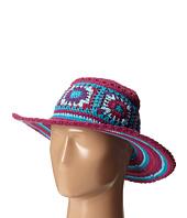 San Diego Hat Company Kids - DL2488 Crochet Macramae Hat w/ Stripe Pattern