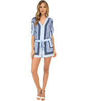 BCBGMAXAZRIA - Soren Printed Long Sleeve Rompers