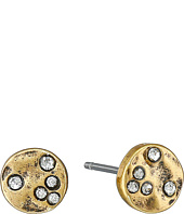 LAUREN Ralph Lauren - Sandy Cay Small Hammered Disk w/ Stones Stud Earrings