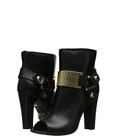 Just Cavalli - Peep Toe Bootie with Gold Hardware