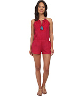 Vix - Sofia by Vix Solid Cherry Embroidered Cali Jumpsuit Cover-Up