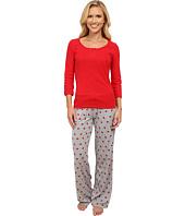 Jane & Bleecker - Varigated Rib Tee & Jersey Pants