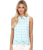 C&C California - Windowpane Tie Front Shirt