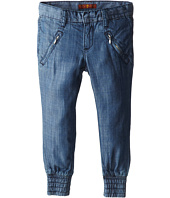 7 For All Mankind Kids - Smocked Hem Drapey Pants in Chambray (Little Kids)