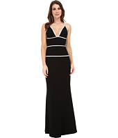 JILL JILL STUART - Strappy Fitted Stretch Crepe Gown
