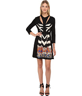 Just Cavalli - Fit and Flare Long Sleeve Dress