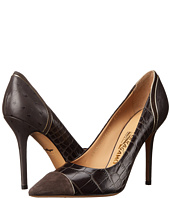 Salvatore Ferragamo - Mixed Media High-Heel Pump