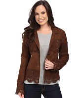 Scully - Lizina Soft Suede Crochet Inset Jacket
