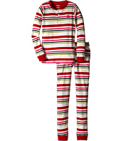 Hatley Kids - Holiday Stripe Henley PJ Set (Toddler/Little Kids/Big Kids)