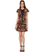 Just Cavalli - Jersey Charlotte Cheetah Print Cap Sleeve Dress