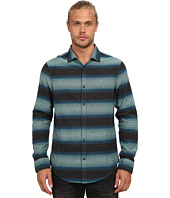 Original Penguin - Heathered Horizontal Stripe Flannel Long Sleeve Woven Heritage
