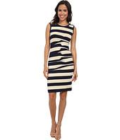 Nicole Miller - Stripe Jersey Tank Dress w/ Cutout