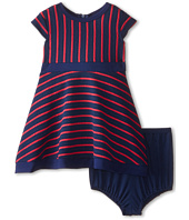 Us Angels - Striped Ottoman Cap Sleeve w/ Full Skirt & Color Block Hem (Infant)