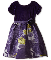 Us Angels - Velvet/Brocade Cap Sleeve w/ Flower & Full Skirt (Toddler)