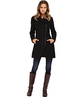 Jessica Simpson - Asymmetrical Braided Wool Coat with Shawl Collar