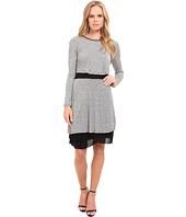 kensie - Streaky Slub Knit Jersey Dress KS9K7656