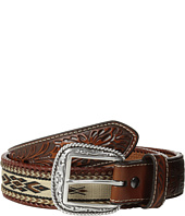 Ariat - Embossed Tab Ribbon Inlay Belt