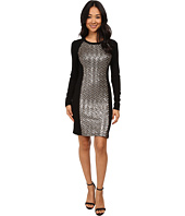 Karen Kane - Chevron Sequin Front Dress